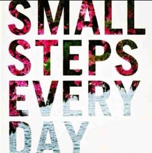Små steg varje dag